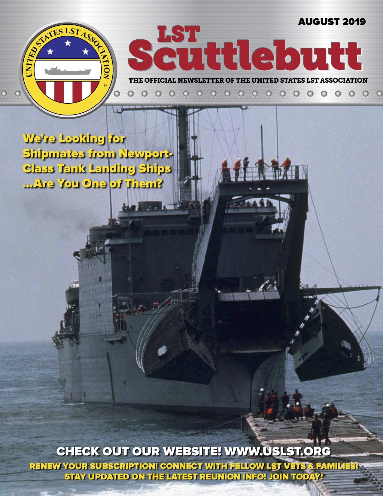 Scuttlebutt Issue 20 August 2019 COVER